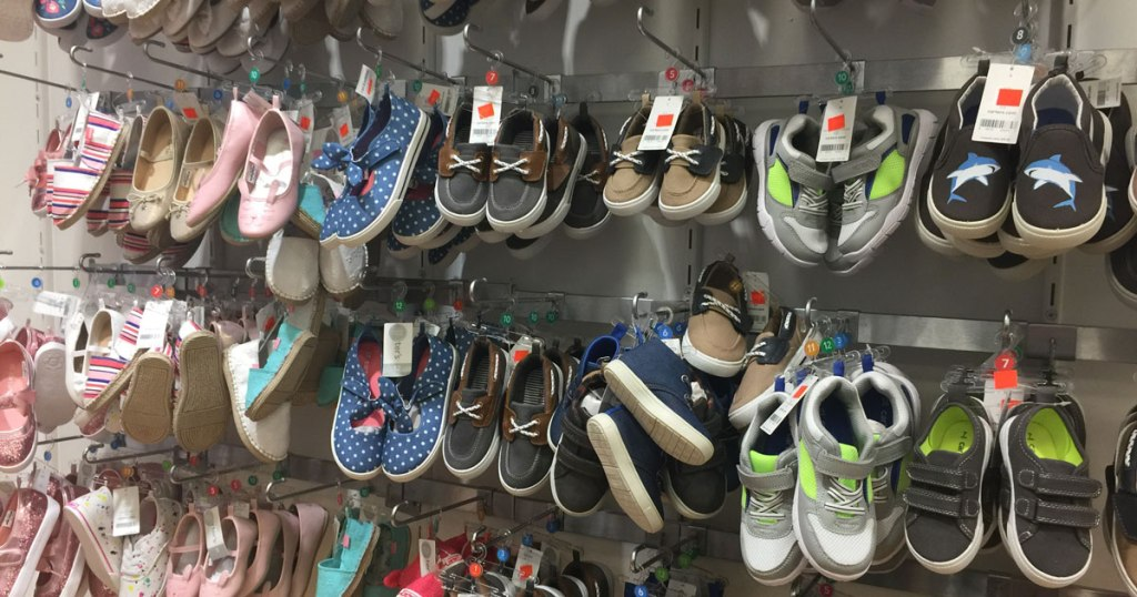 carter's infant shoes on hooks in kohls