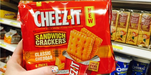 Target: Cheez-It Sandwich Crackers 6-Pack Only $1.49 (Regularly $3.49) – No Coupons Needed