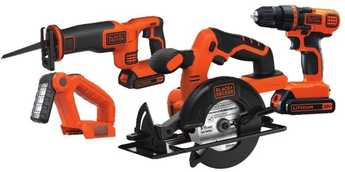 Amazon: Black & Decker Drill, Saw & More Combo Kit Only $81 Shipped (Regularly $159)