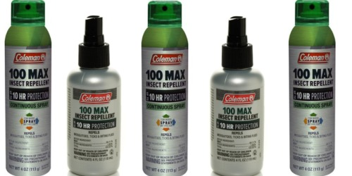 REI.com: Coleman 100 Max Deet Insect Repellent Spray Pump Only $1.85 (Regularly $11)