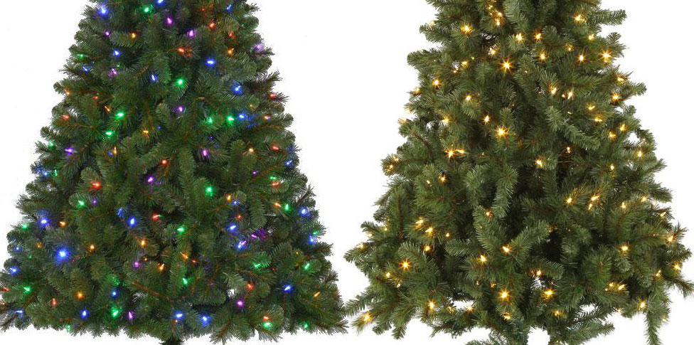 home accents 65 pre lit led wesley artificial christmas tree w color changing lights only 25 shipped regularly 9998