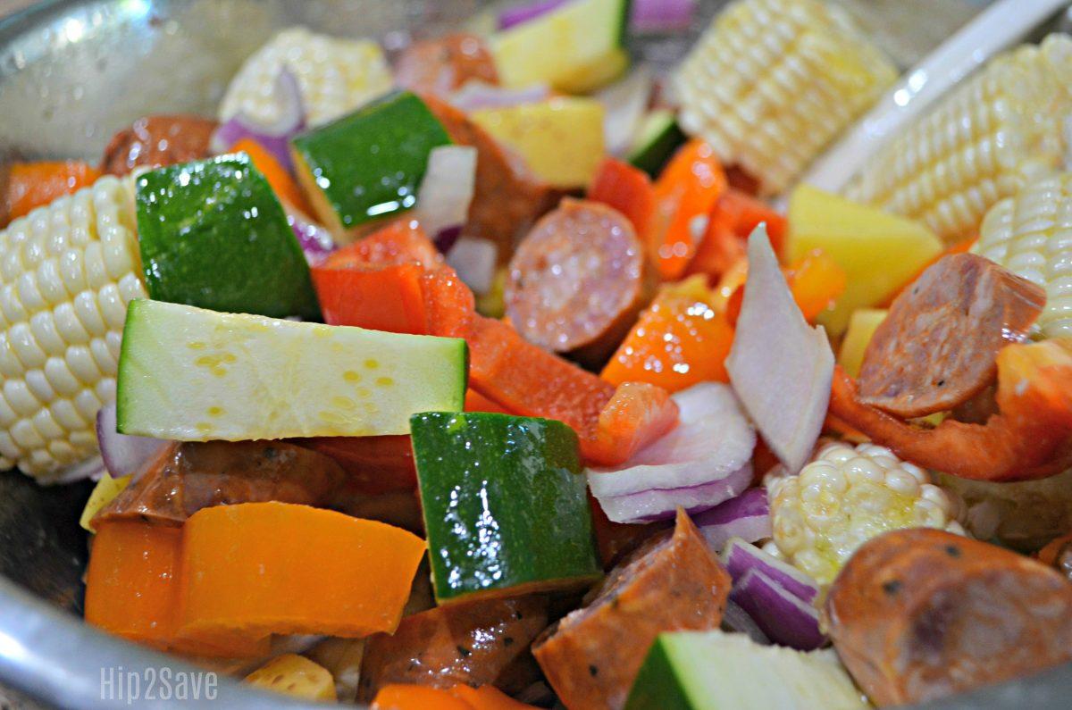 veggies and sausage recipe