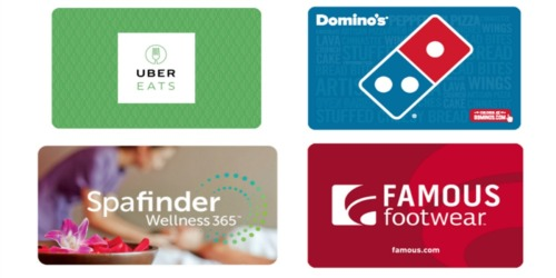 $50 Uber eGift Card Only $45 + Save on Domino's & More eGift Cards