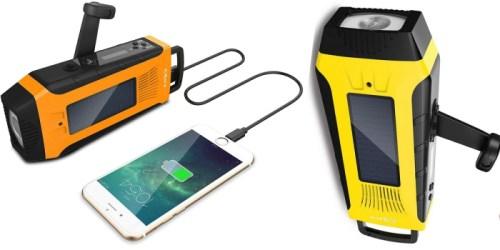 Amazon: Esky Solar Hand Crank Emergency Power Bank w/ Flashlight ONLY $19 (Regularly $33)