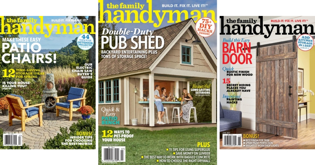 The Family Handyman Magazine 1-Year Subscription ONLY $7 99