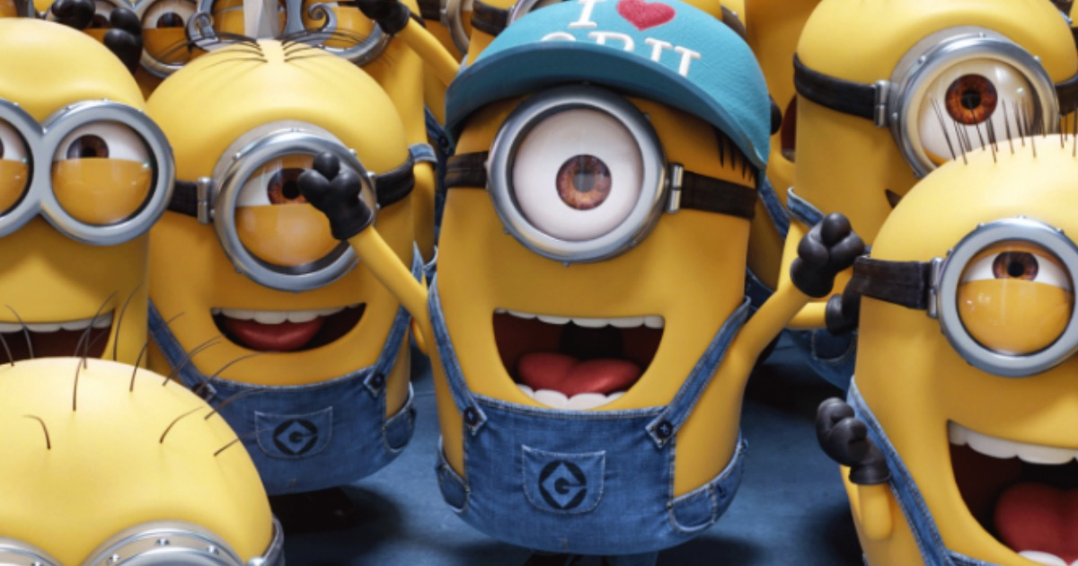 discounted kids summer movie offers – Minions cheering