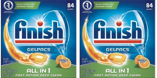 Amazon: Finish All-in-1 Gelpacs 84 Count Box Only $8.13 Shipped (Just 10¢ Per Gelpac)