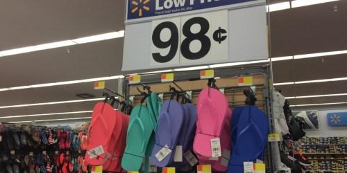 Walmart: 98¢ Flip-Flops & More