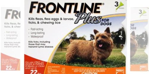 PetSmart: Frontline Plus Dog Flea & Tick 3-Dose Treatment Only $23 Each (Reg. $59.99)