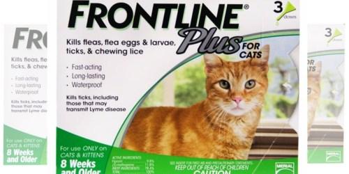 PetSmart: Frontline Plus Cat Flea & Tick 3 Dose Treatment ONLY $24 Each (Reg. $58.99)