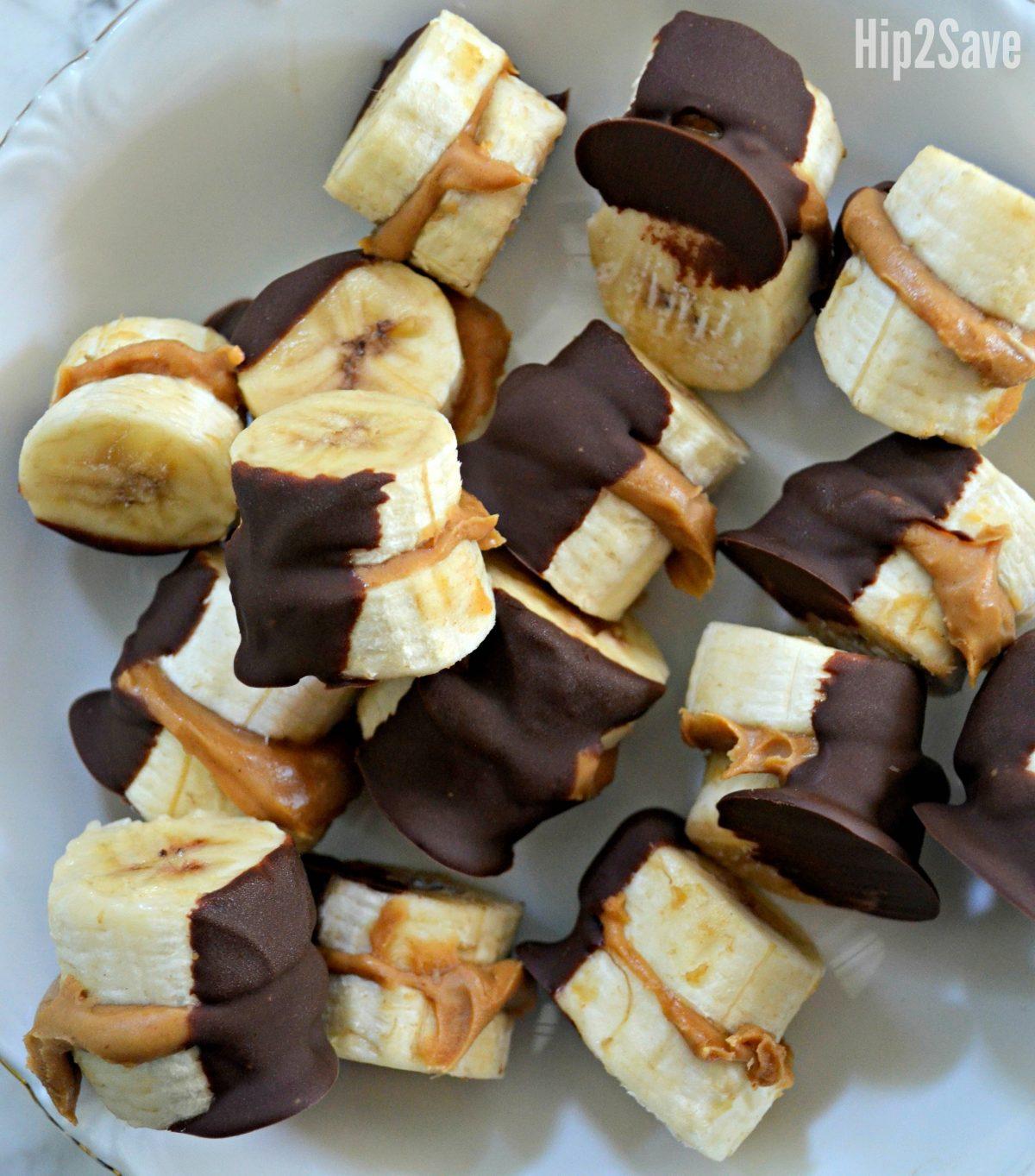 peanut butter banana bites after freezing