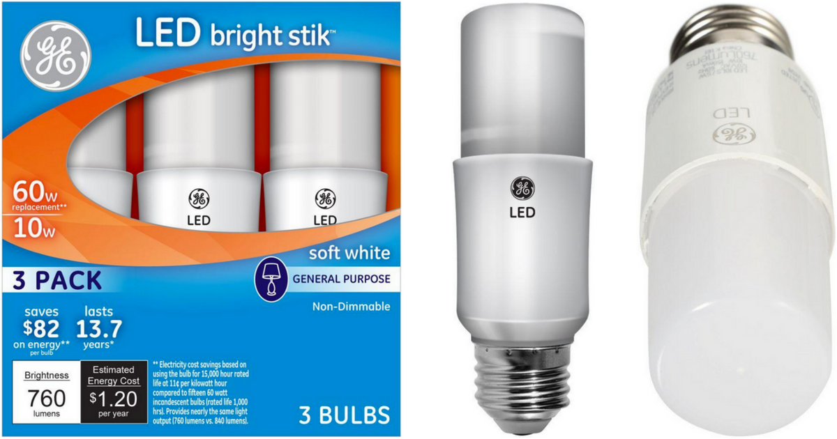 Home Depot Ge 60w Equivalent Led Bulbs 3 Pack Only 3 99