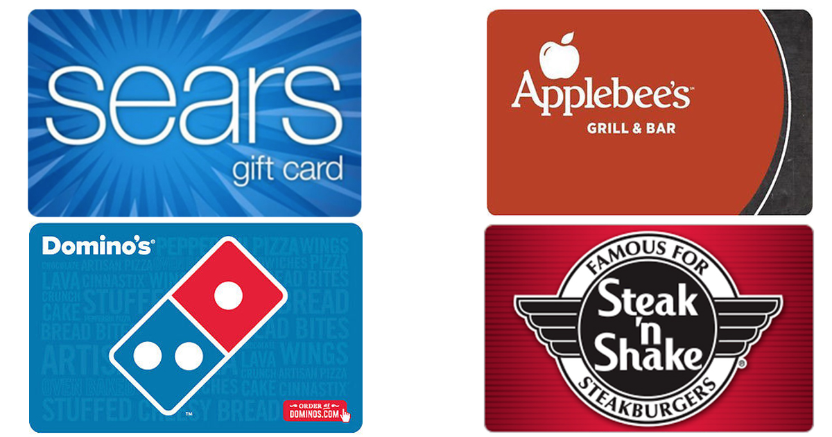 100 Sears Gift Card Only 85 Discounted Domino S Applebee S Cvs Gift Cards Hip2save