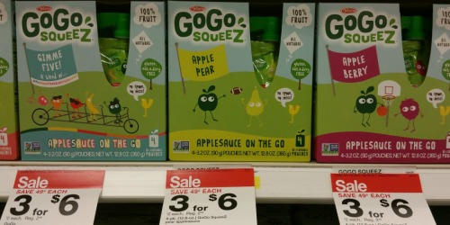 Target: GoGo Squeez Applesauce 4-Pack Only 95¢ (Just 24¢ Per Pouch)