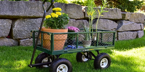 Gorilla Carts Steel Utility Cart Only $51.81 – Regularly $90 (Holds 400 Pounds)