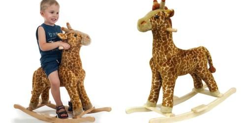 Happy Trails Giraffe Plush Rocking Animal Only $36.49 Shipped