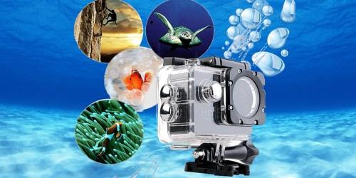 All PRO HD 1080P Sports Camera w/ Waterproof Accessory Pack Just $26.90