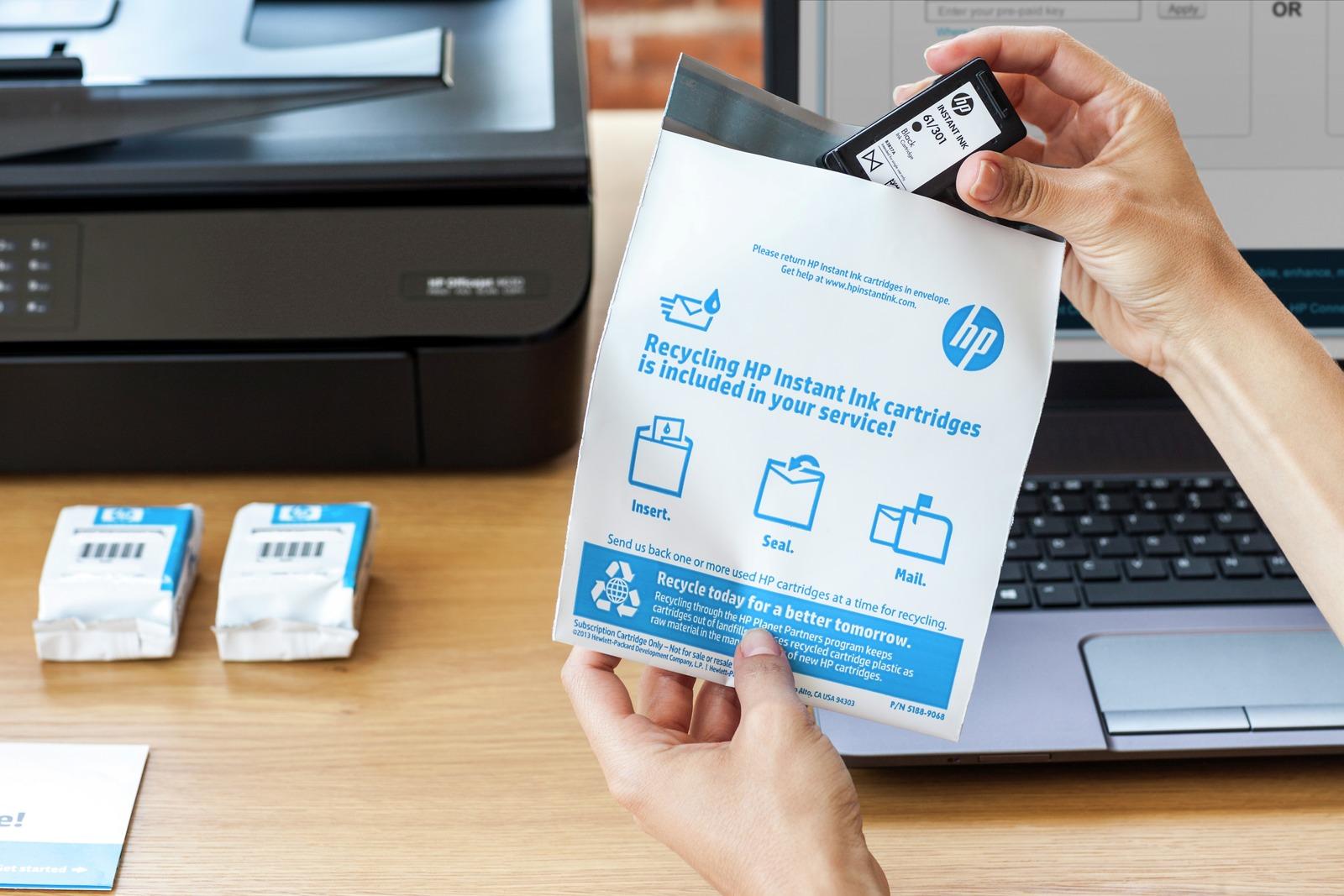 10 ways to save big on printer ink and toner – HP instant ink envelope mailer