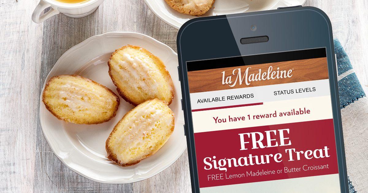 La Madeleine app on smartphone
