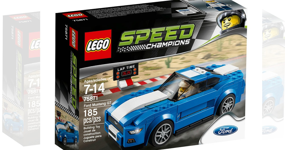 toysrus lego speed champions mustang set just each. Black Bedroom Furniture Sets. Home Design Ideas