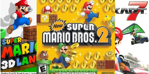 Select Nintendo 3DS Games Only $19.99 (Regularly $29.99) – Mario Cart 7, Super Mario 3D Land & More