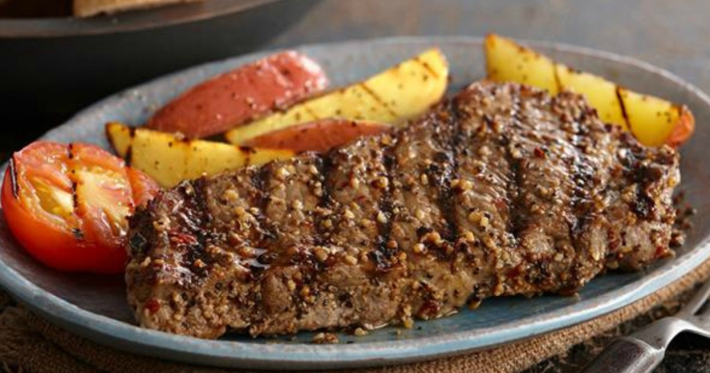 steak with seasoning on it