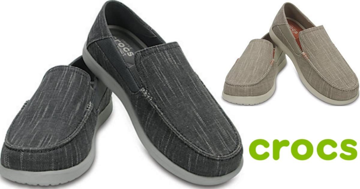 a889543cb Crocs Men s Santa Cruz Slip-Ons Only  28.87 Shipped (Regularly  54.99)    More