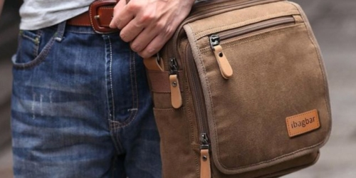 Amazon: IbagBar Small Canvas Messenger Bag Only $18.19 Shipped (Awesome Reviews)