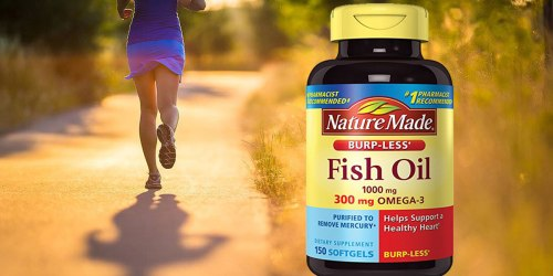 Amazon: Nature Made Burp-less Fish Oil Liquid Softgels 150 Count Bottle Only $4.59 Shipped