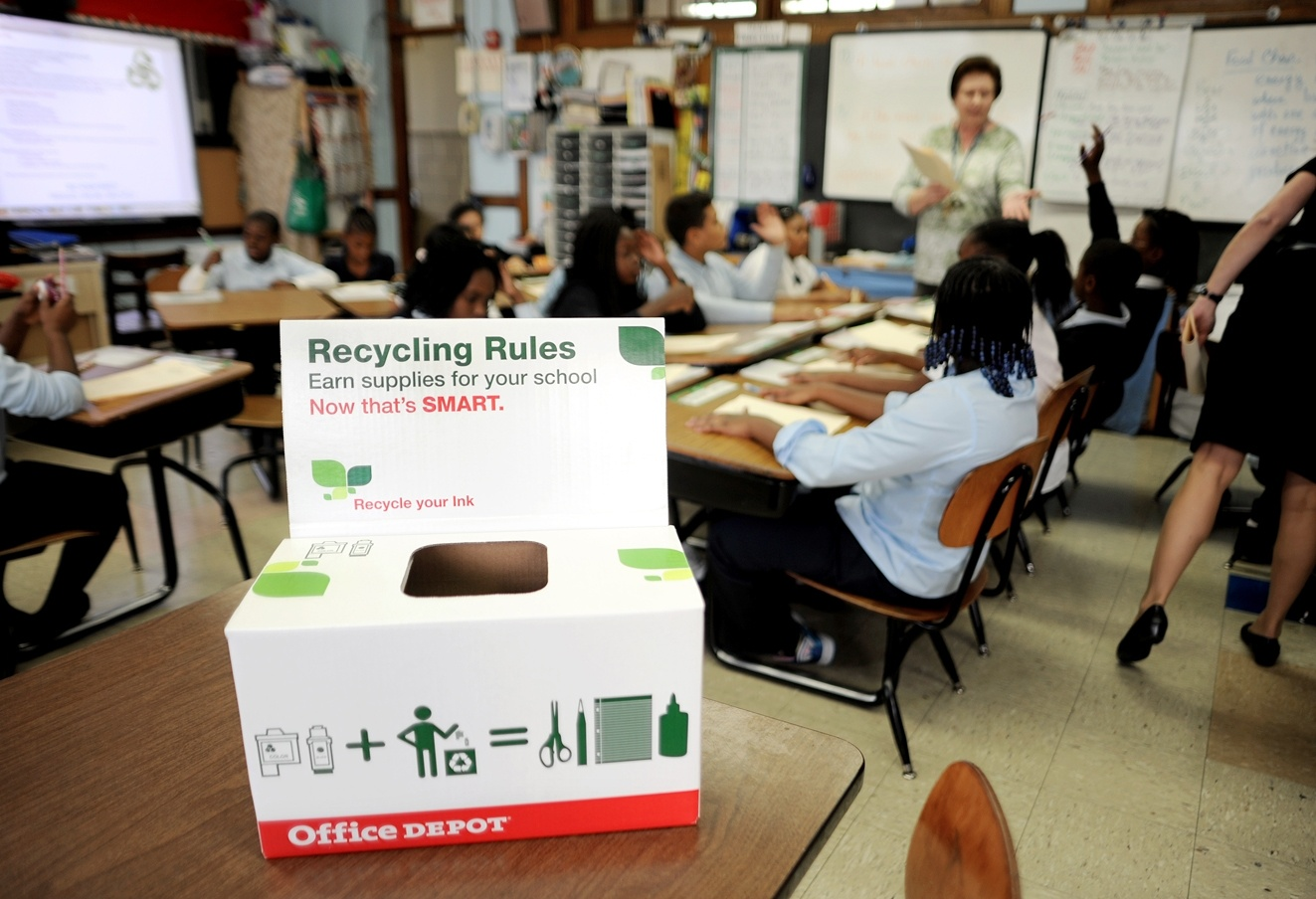 10 ways to save big on printer ink and toner – Recycling rules toner box in a classroom
