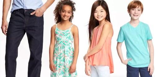 Old Navy: Men's Jeans Only $12, Girls Dresses Just $8, Kids Tanks & Tees $4 & More