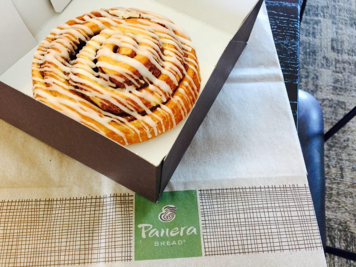 Cinnamon roll at Panera Bread