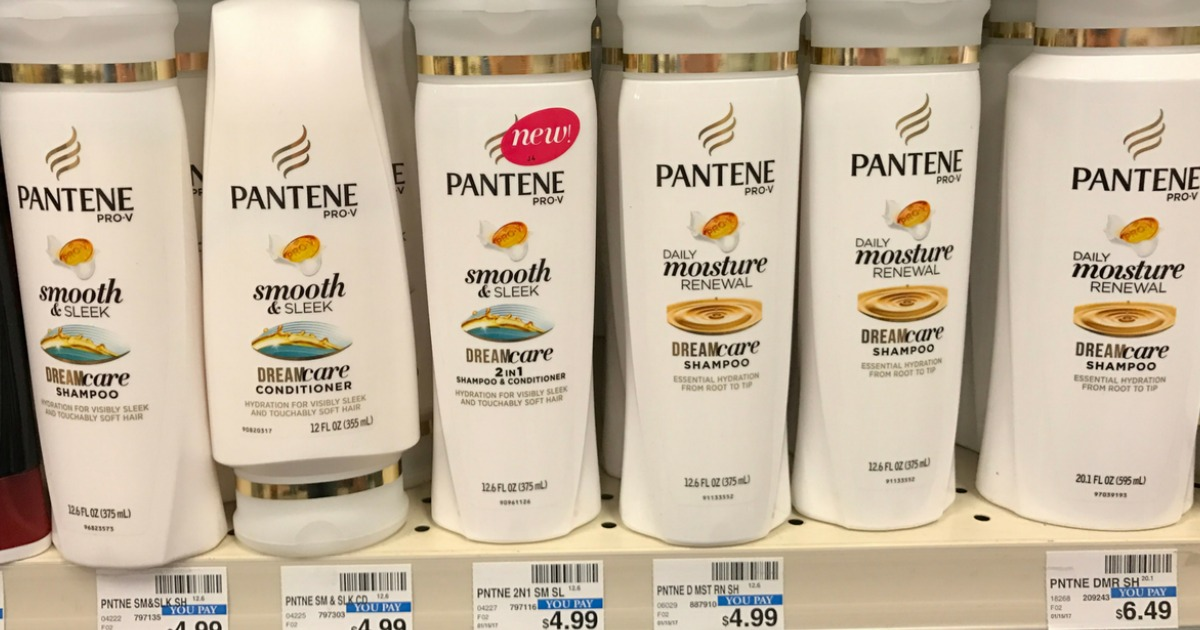pantene shampoo on shelf