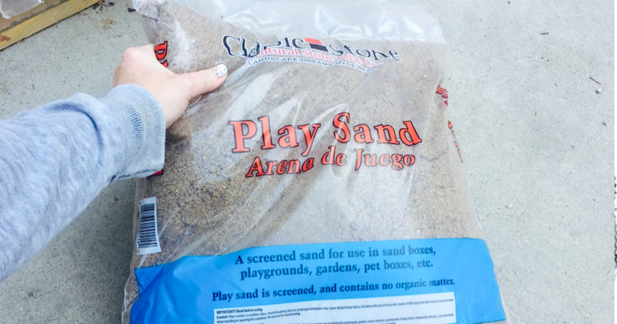 play sand bags home depot