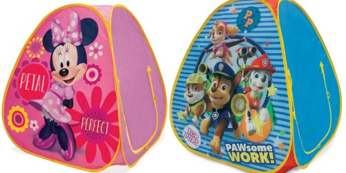 Hollar: Pop-Up Tents ONLY $5 (Minnie Mouse, PAW Patrol & More)
