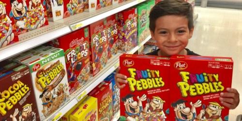 Target: Post Fruity Pebbles Cereal 15oz Box Only $1.35 (After Cash Back) + More