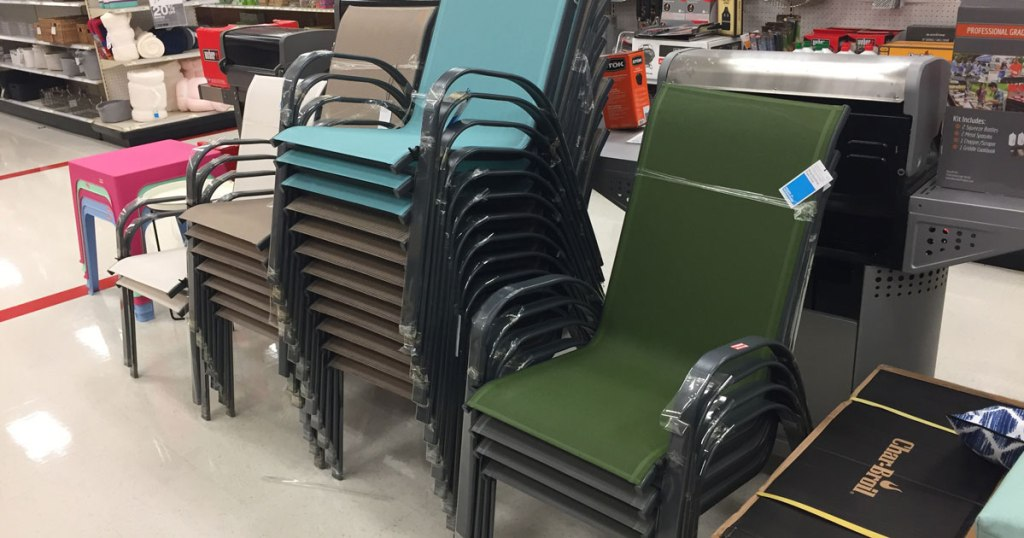 Sling Chairs And Outdoor Dining Set