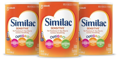 Amazon: 3 Pack Similac Sensitive Infant Formula Only $57.96 Shipped (Just $19.32 Each)