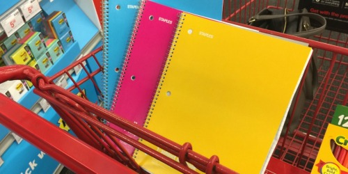 Staples School Supply Deals Starting 7/14 (+ $5 Off $25 Purchase)