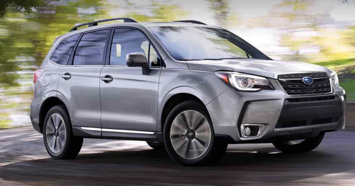 Subaru with fog lights on