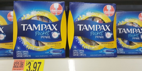 Walmart: Tampax Pearl Tampons Only $1.22 Per Box After Cash Back (Regularly $4)