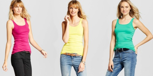 Target: 20% Off Clothing, Shoes & Accessories = Women's Merona Tanks Just $5.33 Each + More