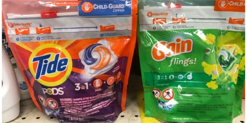 High Value $2/1 Tide PODS & Gain Flings Coupons = 12-16ct Packages ONLY $1.94 at CVS