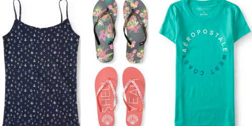 Aeropostale: Extra 40% Off Clearance = Cute Flip Flops Only $2.19, Tops Starting at $3.84 & MORE!