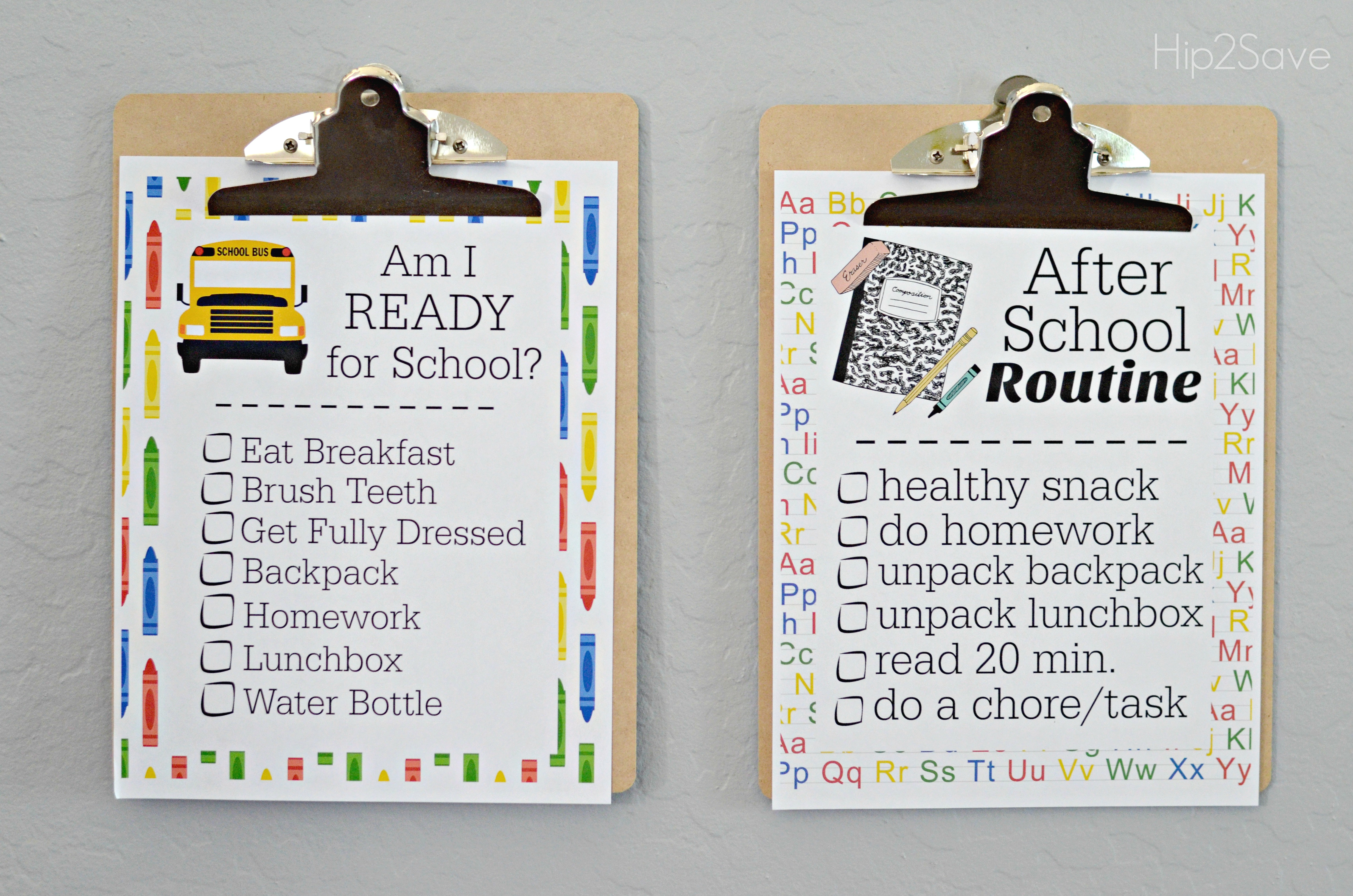 Win back-to-school bundles! Student check list of things to do.