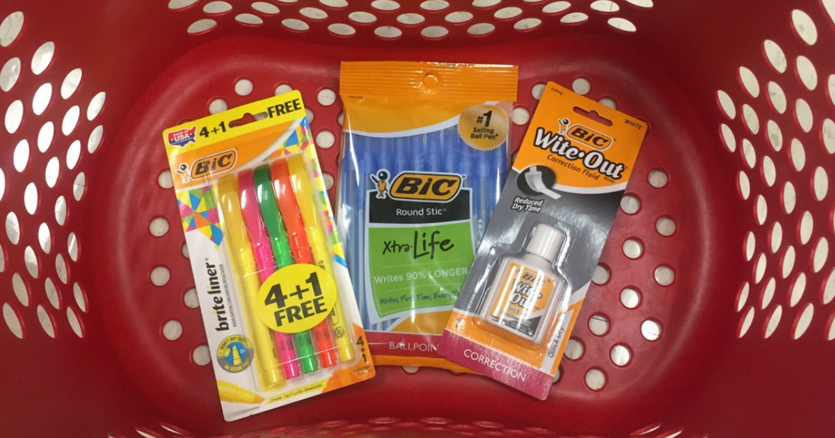 photo relating to School Supply Printable Coupons called Yay!! Clean $1/2 BIC Stationery Product or service Printable Coupon