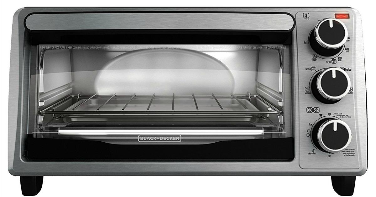 Amazon Black Amp Decker 4 Slice Toaster Oven Only 19 99