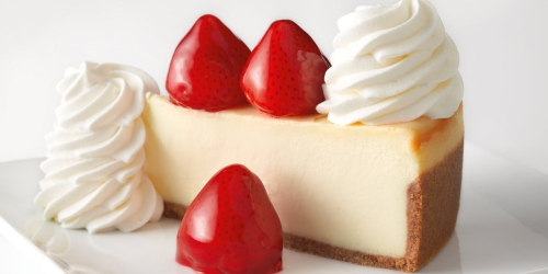 Two FREE Cheesecake Slices w/ $25 The Cheesecake Factory Gift Card Purchase (Live Now)