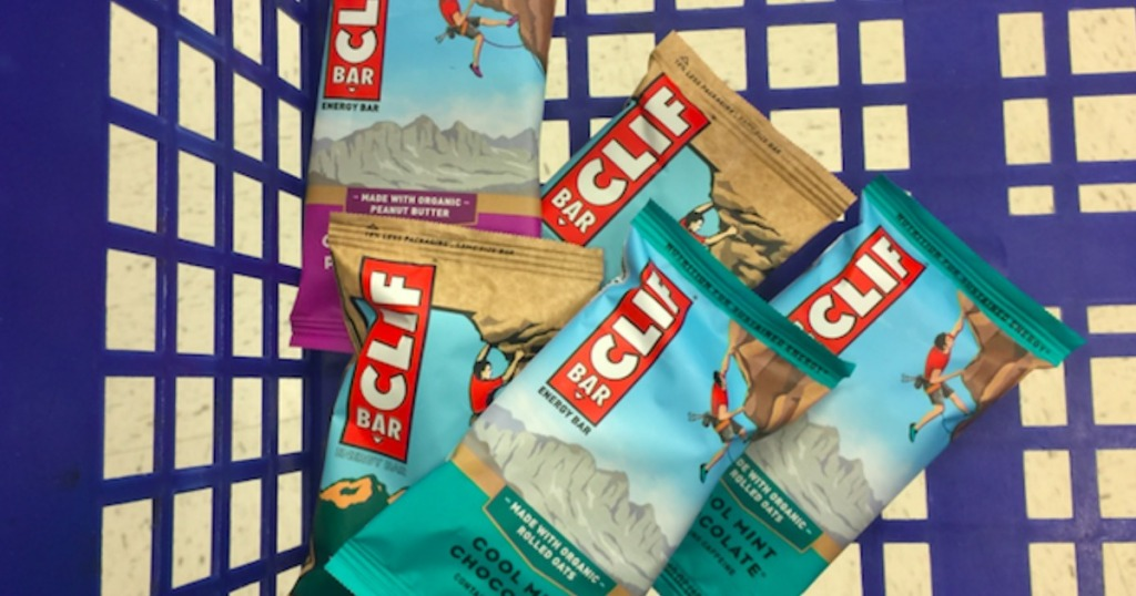 cart full of clif bar snack bars