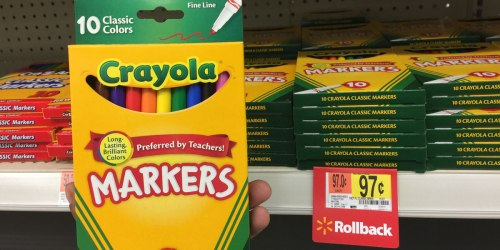 Target: Crayola Fine Tip Markers 10-Count Only 99¢